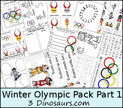 2014 Winter Olympics Printables Pack | Free Homeschool Deals ©