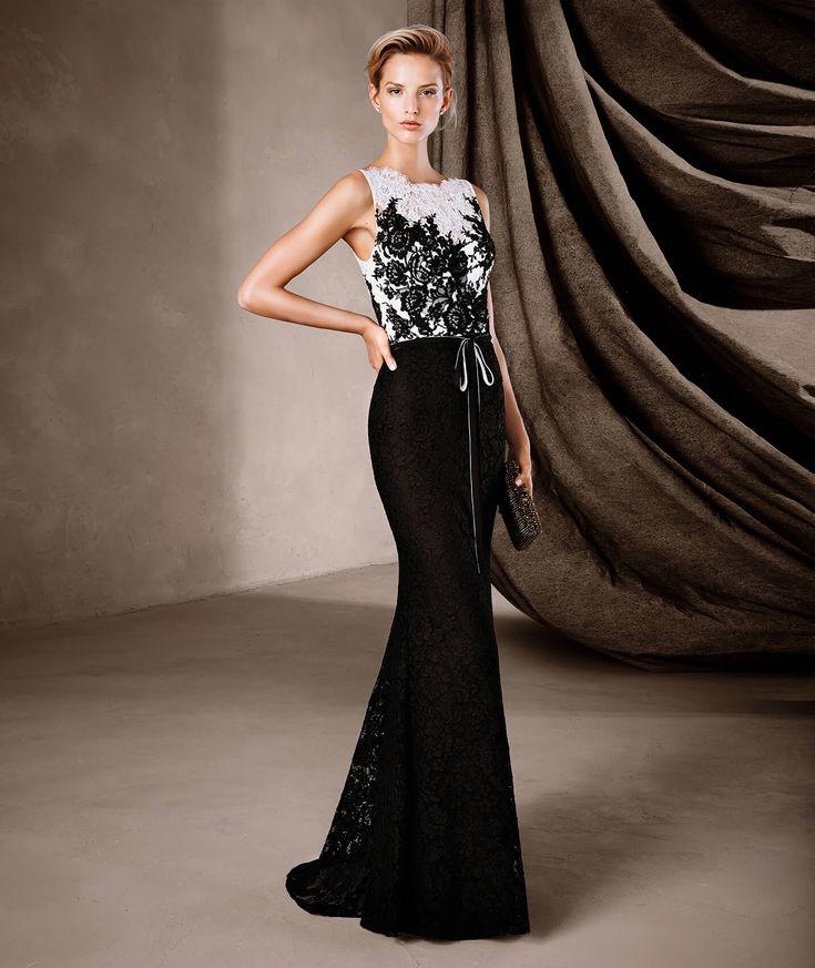 CENEIDA - Vestidos de largo bicolor Pronovias