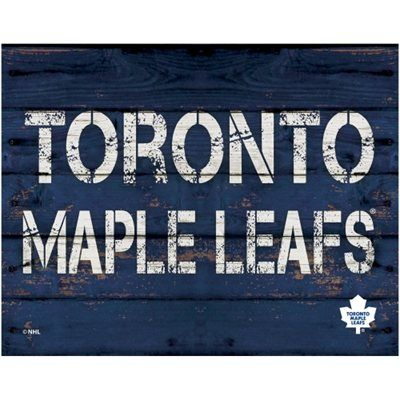 Toronto Maple Leafs 11'' x 14'' Rustic Option Wall Décor - Navy Blue - Shop.NHL.com