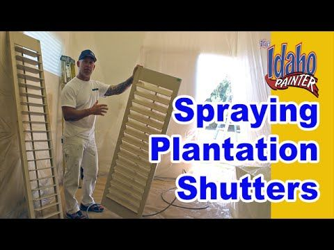 Painting Plantation Shutters. How To Spray Interior Wood Shutters. - YouTube