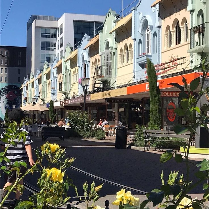 Urban regeneration creativity and innovation flow through #Christchurch. At the same time the city stays true to its heritage in New Regent Street #SouthIsland #NewZealand #itsTime2Go!