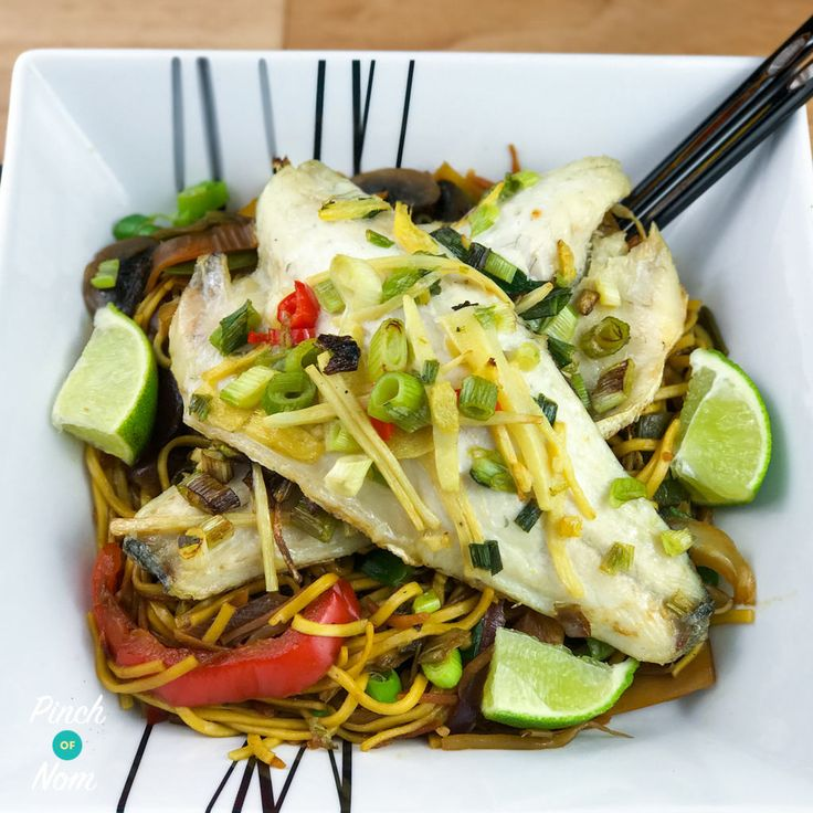 This Syn Free Ginger, Garlic and Chilli Seabass actually featured on our restaurants menu. It was really popular and in my opinion, one of the best ways to enjoy Seabass fillets. Seabass is a fish that can stand up to stronger flavours, and we really like these classic Asian flavours. When you work as a chef…