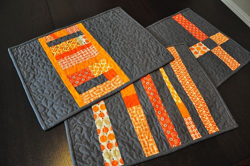 charcoal and orange    I think these are so fabulous!