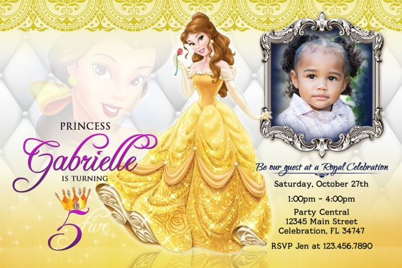 Belle Princess 1 Beauty & The Beast Birthday by BaybeeLoveBoutique, $13.99
