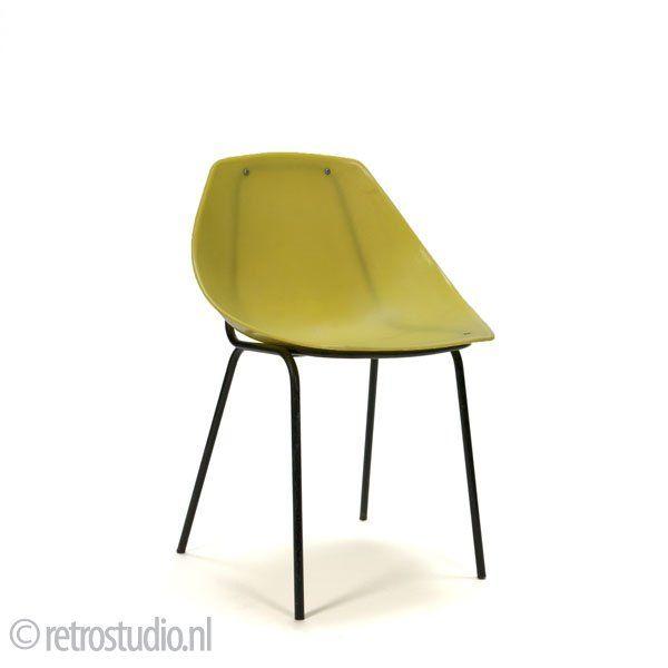 chaise coquillage de pierre guariche pour meurop 1961. Black Bedroom Furniture Sets. Home Design Ideas
