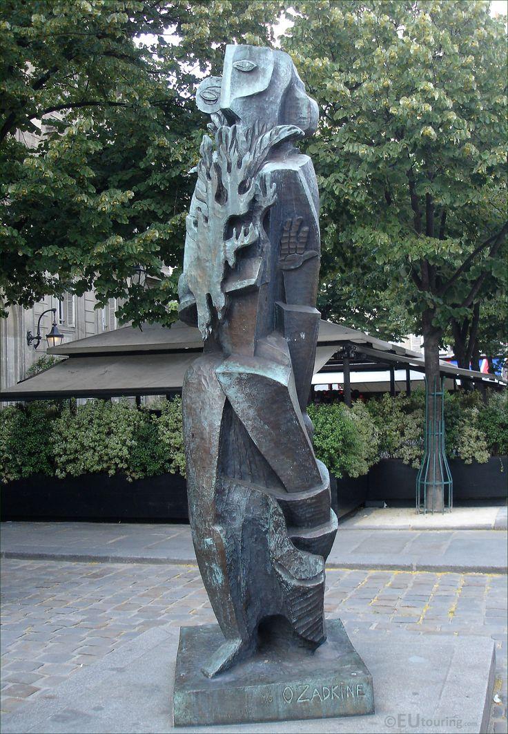the Prometheus statue by Ossip Zadkine in Paris