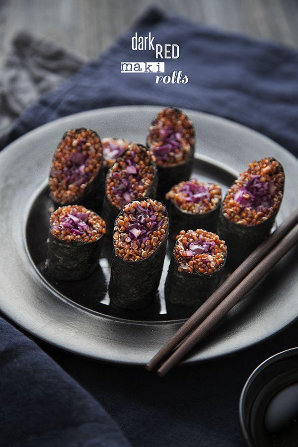 100 % Végétal: makis au quinoa et choux rouge