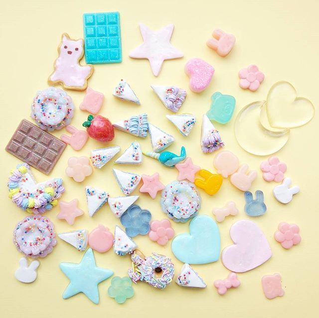 Any takers for this destash? I'll ship it to you for 25usd.  The cabocbons are coated in resin.  DM your email and I will create a listing for you.  #cabochons #cabochon #decoden #polymerclaycharm #polymerclay #cakedecorating #softserve #cuteart #hearts #パステル #miniatures #sweetlolita #gummybear #フード #linzer #スイーツデコ #cuteart #sweetsdeco #キャンディ#kawaiiart #cats #clayart #fakefood #miniatures #アイシングクッキー #クッキー #donut#かわいい #cakeslice #icecream