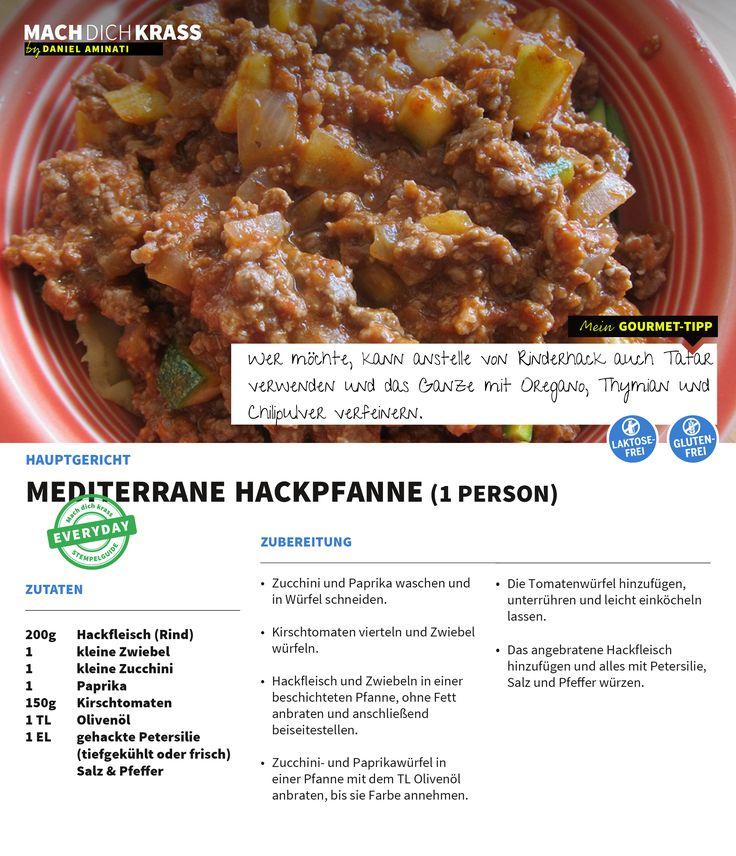 Lust auf Fleisch? Hier gibt's für euch die mediterrane Hackpfanne! Lecker!