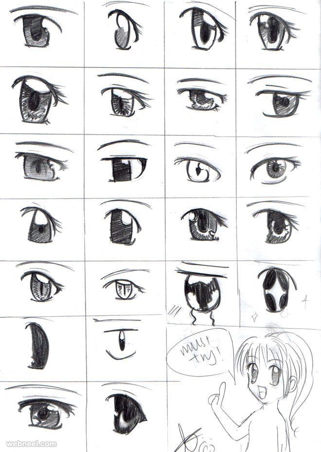 How to Draw Anime Tutorial with Beautiful Anime Character Drawings | Read full article: http://webneel.com/how-to-draw-anime-characters-drawings | more http://webneel.com/drawings | Follow us www.pinterest.com/webneel