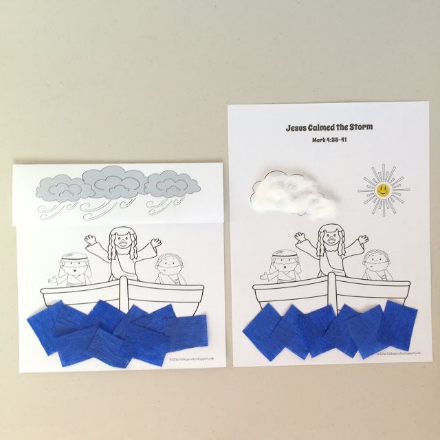 A foldable craft to retell the story: Jesus Calms a Storm