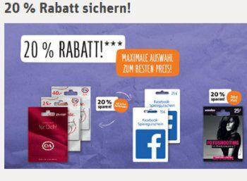 Rewe: Fünf Euro-Bahn-Rabatt & 20 Prozent Rabatt auf C&A-Guthabenkarten https://www.discountfan.de/artikel/klamotten_&_schuhe/rewe-fuenf-euro-bahn-rabatt-20-prozent-rabatt-auf-ca-guthabenkarten.php iTunes-Karten gibt es bei zahlreichen Discountern schon lange mit Rabatt – nun bietet Rewe in dieser Woche auch Guthabenkarten für C&A sowie Facebook mit einem Preisabschlag von 20 Prozent an. Rewe: Fünf Euro-Bahn-Rabatt & 20 Prozent Rabatt auf C&A-Guthabenkar