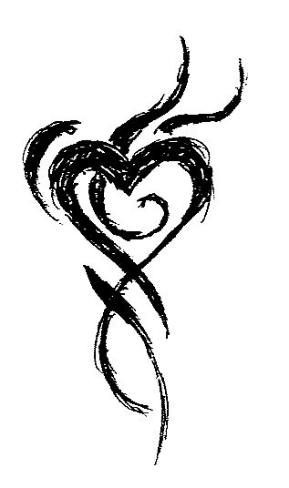 Heart Tattoos - I would like this done in a water color effect
