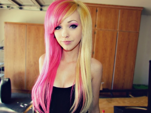 Pink <3: Hair Colors, Dual Colors, Jessie Lush, Hair Blondes, Hair Style, Beautiful Hair, Blondes Pink, Hair Stuff, Colors Hair