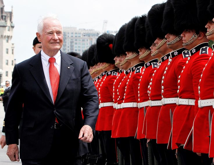 July1 2017: Governor General David Johnston inspects guards @ Canada Day 150 celebrations, Ottawa.