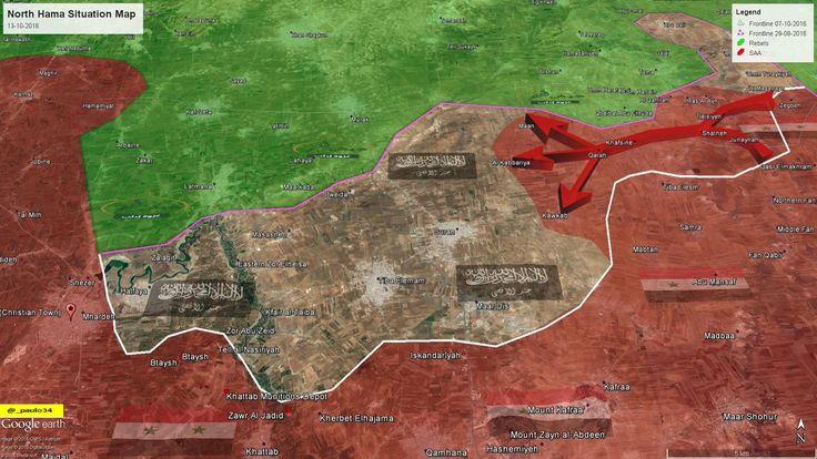 North Hama Situation Map 13-10-2016 SAA vs Rebels #Hama #Syria