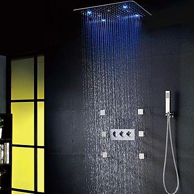 best shower faucet sets. 20 inch LED Shower System Rain Handshower Chrome Faucet Set  FaucetSuperDeal com The 25 best faucet sets ideas on Pinterest
