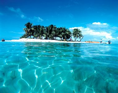 In Belize the water was the bluest of blues