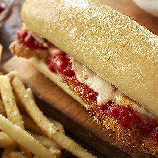 And here�s the chicken parm: | Here's Everything You Need To Know About Olive Garden's New Breadstick Sandwich