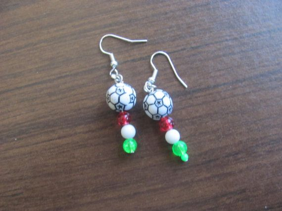 FIFA world cup Italian Soccer earrings by StudentShop13 on Etsy