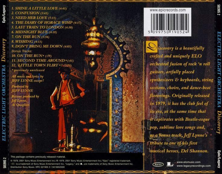 Electric Light Orchestra ELO - Discovery Back Cover