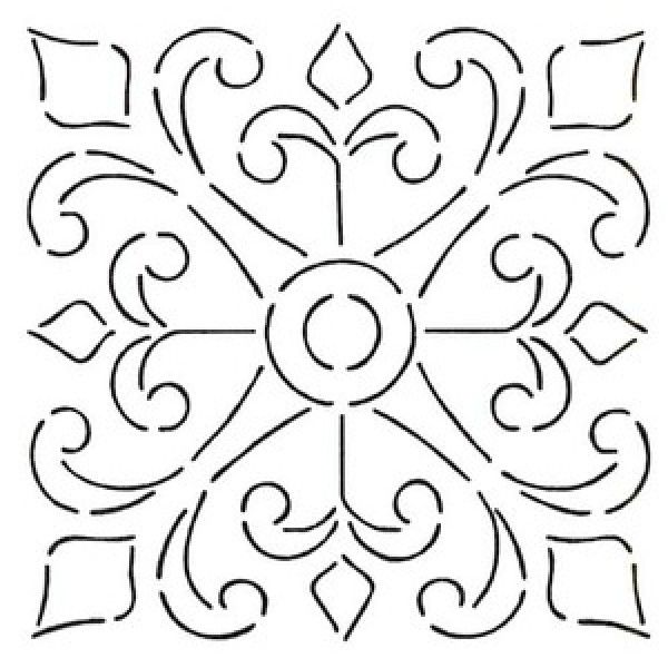 spanish tile stencils - Google Search Wall Stencil for
