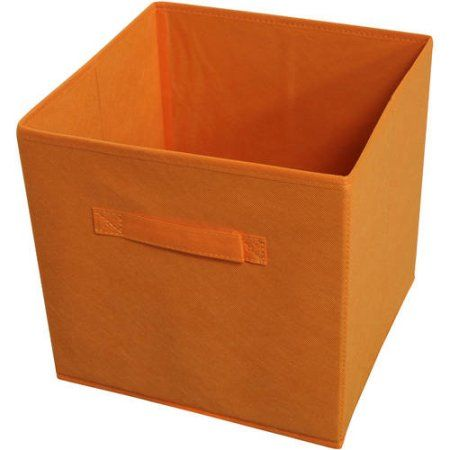 Collapsible Storage Bins, Pack 4, Orange