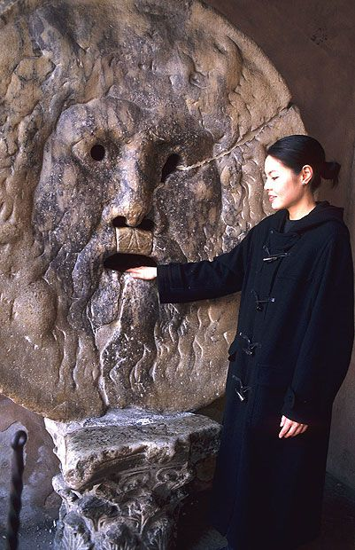 "Legend has it that if one tells a lie with one's hand inside La Bocca della Verita (""The Mouth of Truth""), it will be bitten clean off. Head to the church of Santa Maria in Cosmedin on the banks of the Tiber to put the myth to the test."