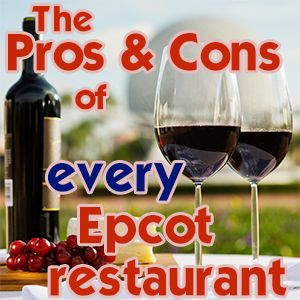 Pros and cons of every Epcot restaurant.  This is a really helpful article -- and the links out to the menus (complete with prices) make it even more so!