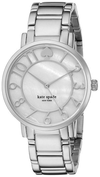 kate spade new york Women's 1YRU0781 Gramercy Analog Display Japanese Quartz White Watch