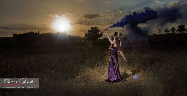 Algarve Portrait photography with Smoke bombs by James Hardie Photography