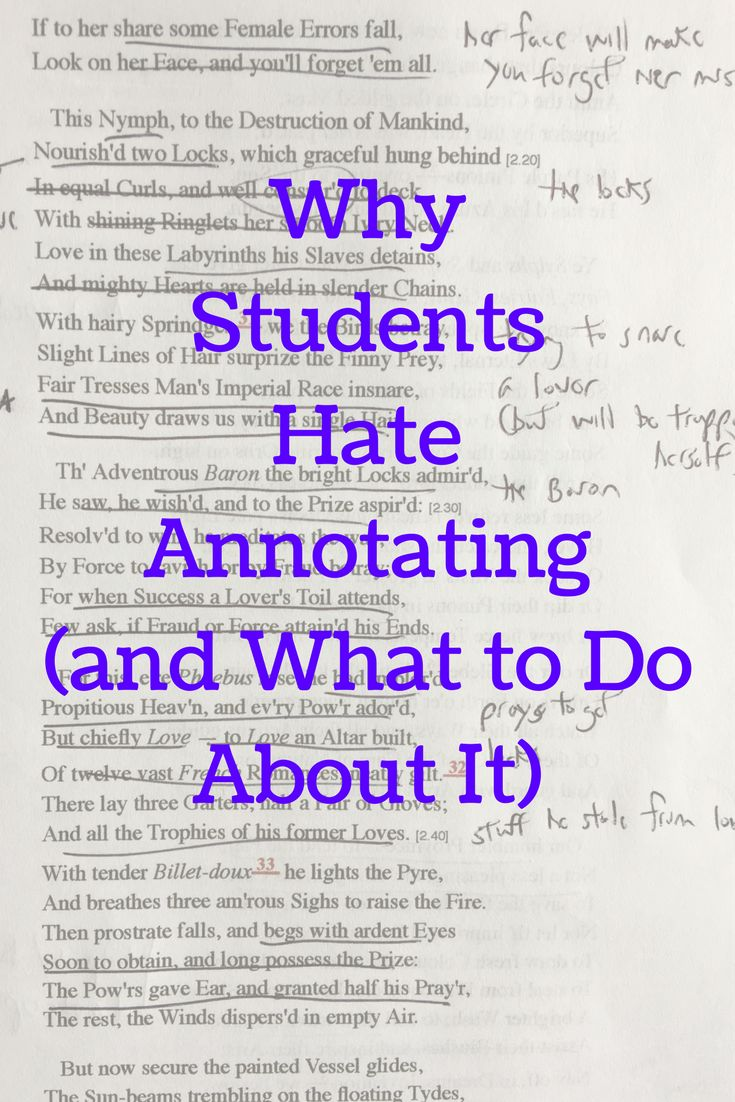 Why Students Hate Annotating (and What to Do About It)