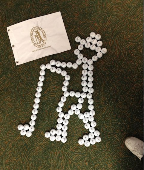 Princes Golf Club @Princesgolfclub  2m   And this is @ATarcetti our Headd Pro's recreation out of golf balls!!! Who knew we had a hidden genius among us???