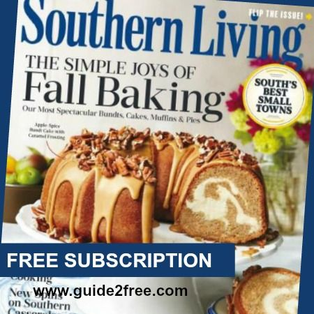 FREE Subscription to Southern Living Magazine - http://www.guide2free.com/books-and-mags/free-subscription-southern-living-magazine/