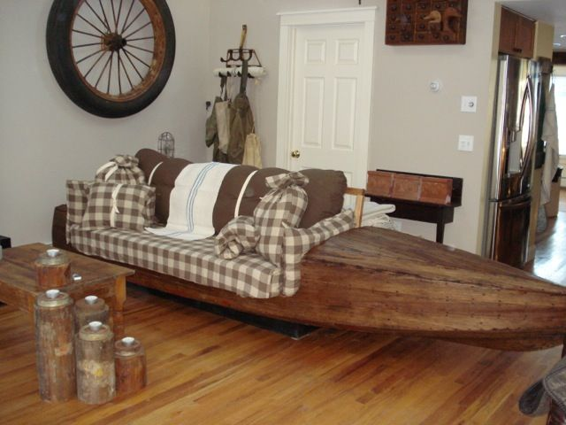 Recycled Antique Boat Couch With An Extended Functional Life Of Beauty. If  Youu0027ve