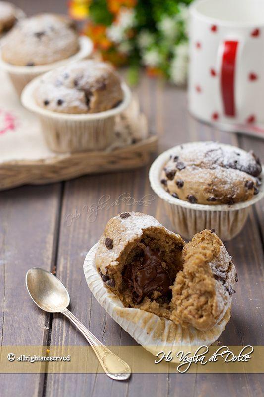 Muffin al caffè con cuore di Nutella   Ho Voglia di Dolce