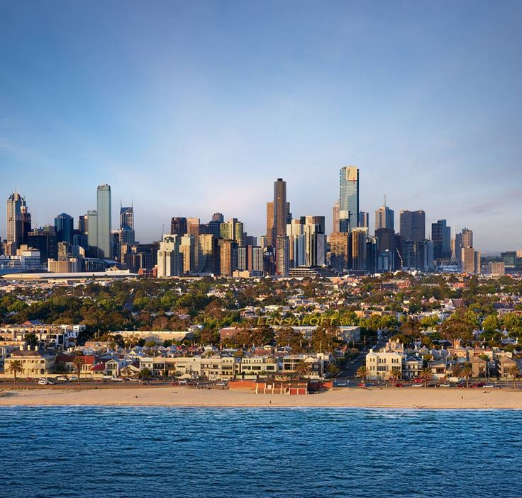 Awesome view of Melbourne from South Melbourne Beach -,Victoria || pic by Lensaloft Photography