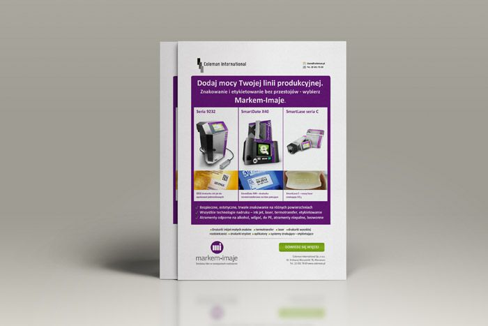Coleman – broszura reklamowa  http://www.nlogo.pl/portfolio/coleman-broszura-reklamowa