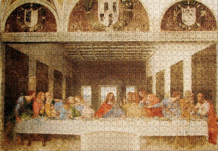 L'Ultima Cena, 1495 - 1498 - Leonardo Da Vinci - Santa Maria delle Grazie, Milan, Italy - (Clementoni 1000 pcs)