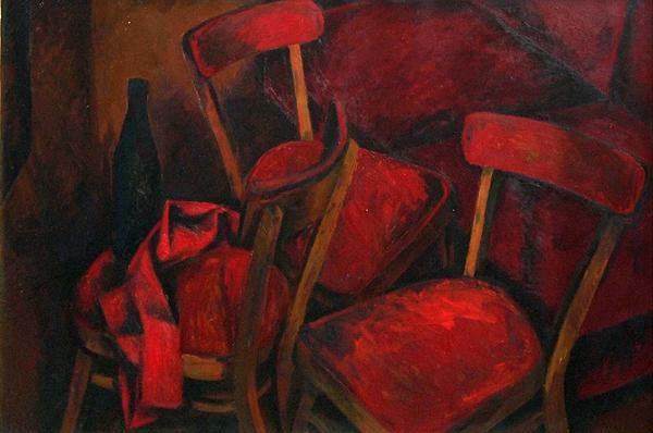 """Живулин В. И. """"Красные стулья"""" (1975)"""