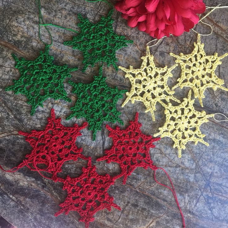 A personal favorite from my Etsy shop https://www.etsy.com/listing/559711441/snowflake-ornaments-set-3-ornaments-tree