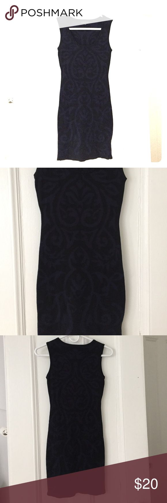 Mini Dress! Classy yet sexy black and navy mini dress. Only wore once! Not BCBG; listed under BCBG for exposure. BCBG Dresses Mini