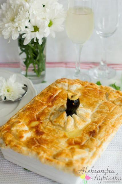 Aleksandra's Recipes: Creamy chicken & vegetable pie (with step-by-step photos)