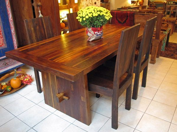 Teak Dining Table w/ Trestle, 3' x 6' Impact Imports - Boise - Reclaimed Wood & Piping Furniture: A Collection Of Home Decor