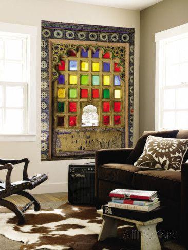 オールポスターズの ダイアナ・メイフィールド「Coloured Window Detail in City Palace」ウォールミューラル