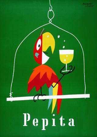 Vintage Pepita Drink Posters & Prints