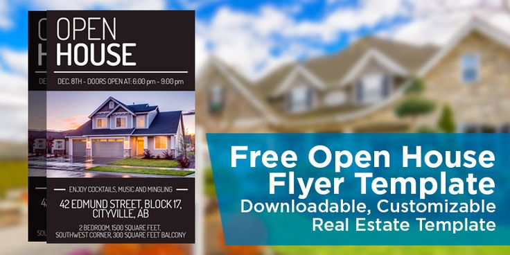 Free Open House Flyer Template u2013 Click to View \ Download - open house templates