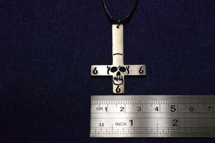Inverted Pentagram cross Pentacle Amulet Necklace Pendant satan satanic devil demonic Baphomet Seal of Lucifer Luciferian Sigil cross by PrinceSymbol on Etsy