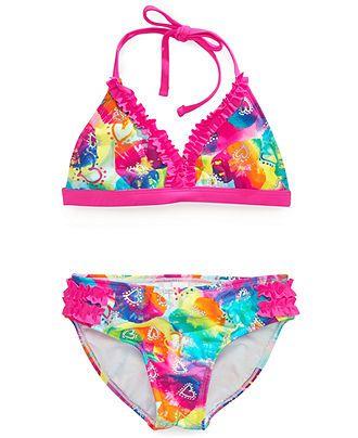 Breaking Waves Girls' 2-Piece Bikini Swimsuit - Kids Swimwear - Macy's