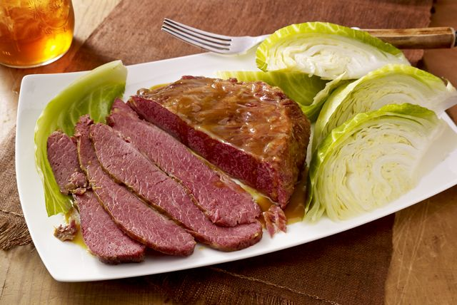 Serve a delicious Corned Beef Brisket with Cabbage at a St. Patrick's Day feast or today! Everyone will love this classic, succulent corned beef brisket.